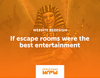 Escape Rooms Website