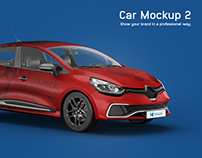 Renault Clio Car Mockup