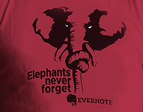 Серия принтов для компании Evernote