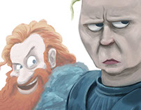 Drawing - Tormund & Brienne