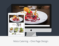 Restaurant One Page website