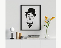 Mr Chaplin and bean vector illustration