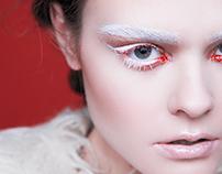 Snow eyelashes