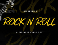 ROCK N ROLL - FREE TEXTURED BRUSH FONT