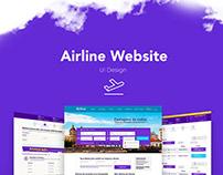 Airline Website / UI Design 2017