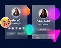 Glassmorphism Profile Card Design