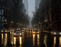 New York City street road