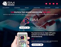 Diseño de pagina web para app de inventarios.