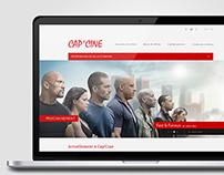 WEB DESIGN // Cap'Cine Website Redesign