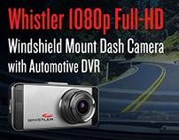 Whistler 1080p Full-HD Windshield Mount Dash Camera