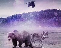 VISUAL ART - Bear, Wolf and Raven