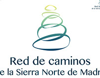 Logotipo para la Red de Caminos de la Sierra Norte