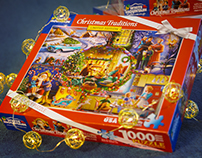 """Christmas Traditions puzzle """"White Mountain Puzzles"""""""