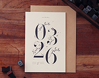 One fine day - wedding invitation design