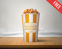 Popcorn – 2 Free PSD Mockups