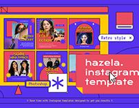 Hazela Instagram Template