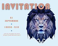 Carton d'invitation - cocktail d'accueil