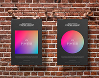 Brand Promotion Poster Mockup Free