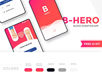 B Hero - Blood donation app free UI kit