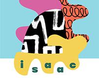 Isaac's Birth announcement card