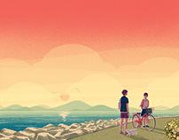 『京都産業大学ブランディングポスター 8月』