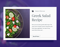 Daily UI #040 - Recipe - free Sketch source