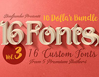 10 Dollar Bundle vol.3 – 16 Fonts!
