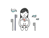 Visual identity for a cute kids' dentist.