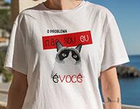 Lhama Louca - Grumpy Cat