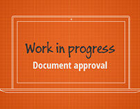 Document Approval: workflow + wireframes