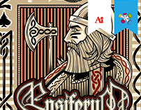 Ensiferum - Highroller Shirt Design