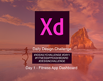 Adobe XD Daily Challenge Day 1 - Activity Tracker
