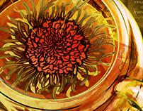 Flower Tea Infographic