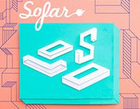 Sofar Oslo paper cut poster