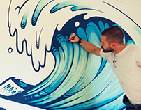 Veneficus Wave Mural