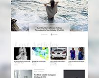 Day 047 — Fashion news. Free PSD