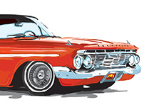 1961 Impala for Lowrider Magazine - Illustration
