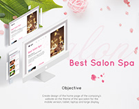 Spa Salon Design of the home page website