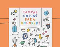 Tantas coisas para colorir - colouring book