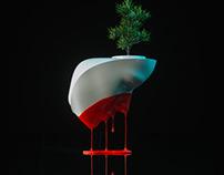 "Design Flower Pot ""Painted"""