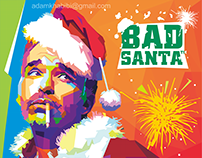 "WPAP Artwork for Design Contest of ""Bad Santa"" Film"