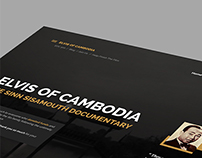 Elvis Of Cambodia - Sinn Sisamouth | website redesign