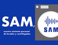 Sam, asistente personal de lavados y centrifugados
