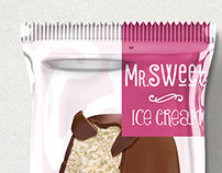 Packaging design for ice cream sticks for Mr.Sweet.