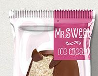Packaging design for ice cream sticks for Mr.Sweet.