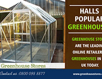 Halls Popular Greenhouses toughened Glass | 800 098 887