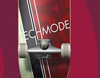 Techmode Productions skateboard deck