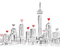 "Toronto Life Magazine ad concept ""90th Anniversary"""