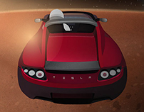 SpaceX Falcon Heavy with Tesla Roadster