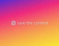 Instagram - Save the content